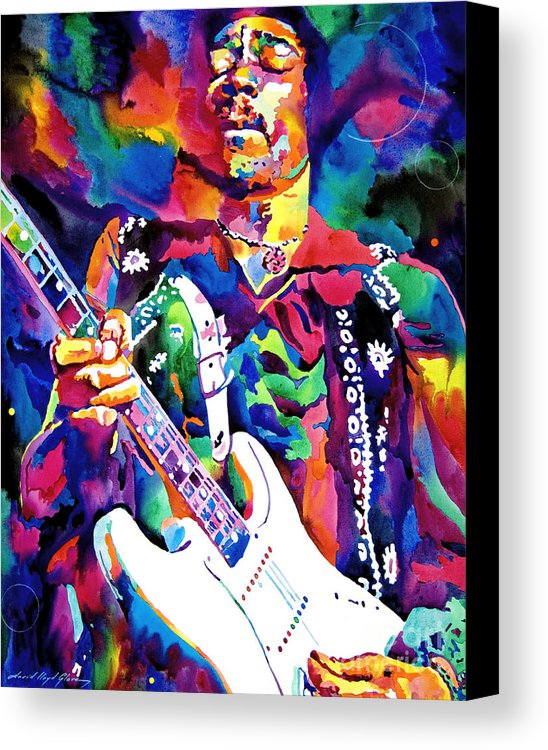 guitar art with Jimi Hendrix