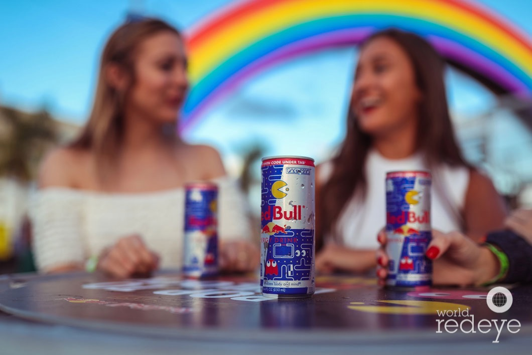 Pac Man Red Bull Can